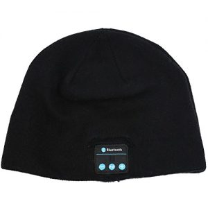 Bluetooth Beanies Winter Hats Headphones with Mic FoYoung Wireless Headset Bluetooth Earphones Running Headphones for Camping Skating Hiking Running Jogging Bedtime Reading Black
