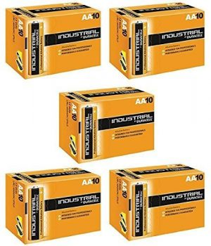 Duracell AA Industrial Alkaline Battery (Pack of 50)